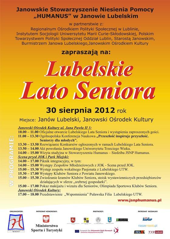 Lubelskie Lato Seniora 30 sierpnia 2012 rok