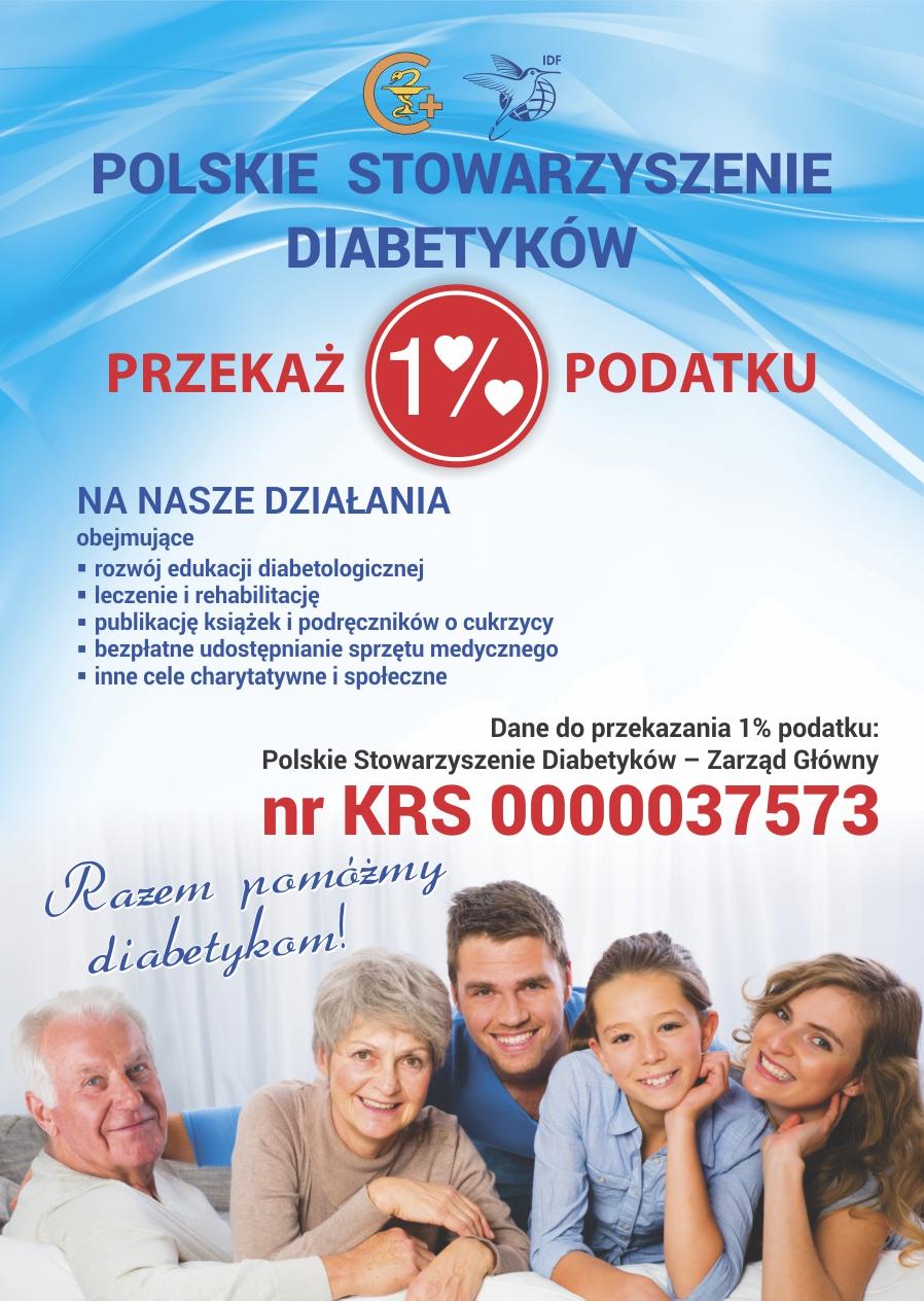 1 % dla Polskiego Stowarzyszenia Diabetyków